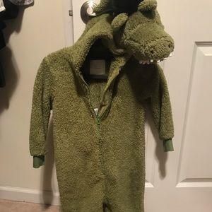 Alligator costume onesie